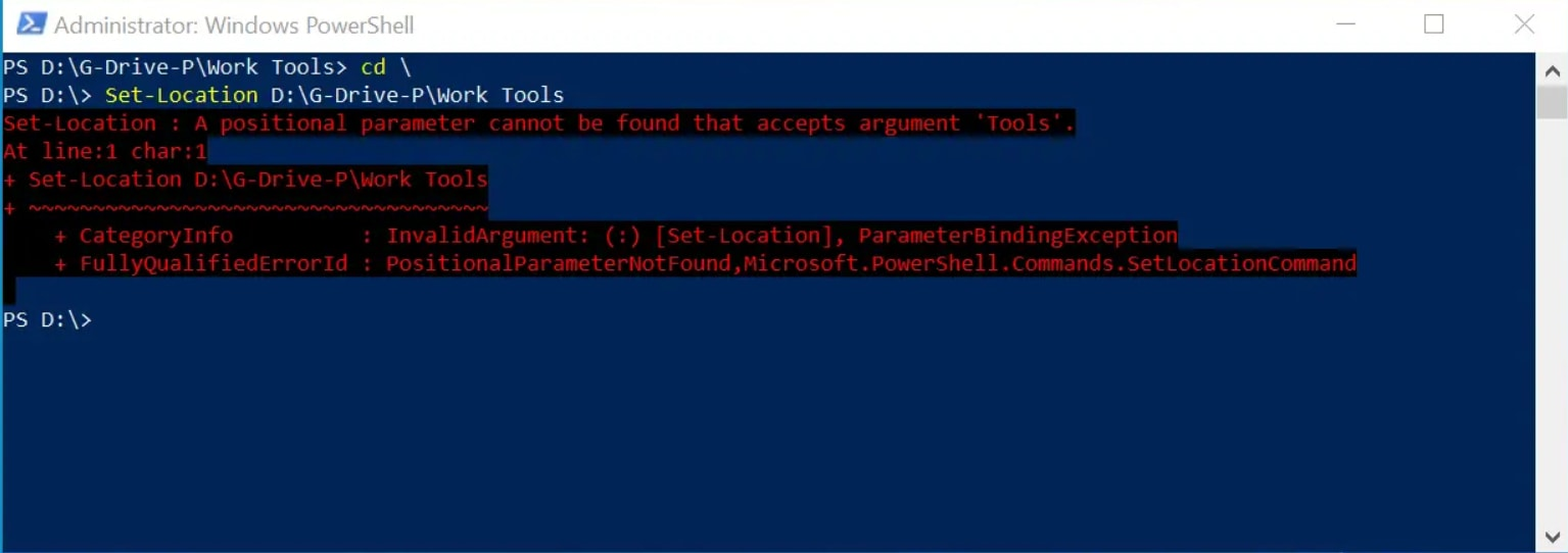 How to Change Directory in PowerShell Using Spaces