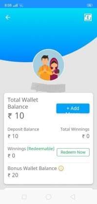 You will get Rs.20 Bonus Cash for the use of Jeet11, a 100% Bonus that can be used for any league.